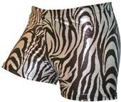 Gem Gear Compression Metallic Zebra Shorts