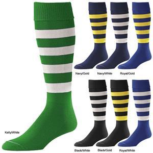 "Pro Feet ""Bumblebee"" 5 Stripe Nylon Soccer Socks"