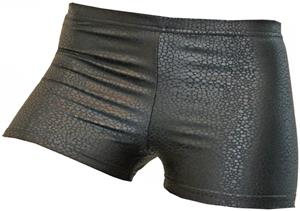 Gem Gear Compression Black Snakeskin Shorts