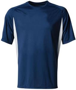 A4 Cooling Performance Color Blocked Crew T-Shirts