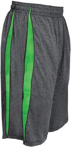 Badger Sport Heathered Polyester Fusion Short