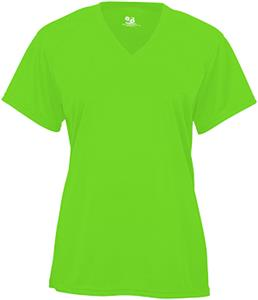 Badger Sport B-Core Ladies'/Girls' SS V-Neck Tee. Printing is available for this item.