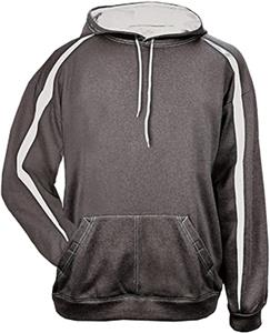 Badger Sport Polyester Fusion Hooded Sweatshirt. Decorated in seven days or less.