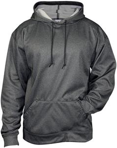 Badger Sport Pro Heathered Fleece Hoodie. Decorated in seven days or less.