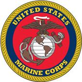 "Fan Mats United States Marines 44"" Round Area Rug"