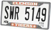 Fan Mats Clemson University License Plate Frame
