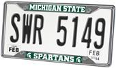 Fan Mats Michigan State Univ. License Plate Frame