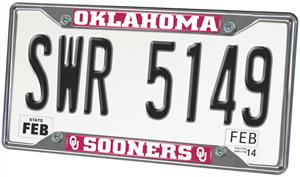 Fan Mats Univ. of Oklahoma License Plate Frame