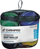 "Champro 12"" Weighted Training Softballs Set of 4"