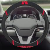 Fan Mats University Nebraska Steering Wheel Covers