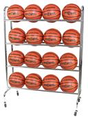 Champro Ball Rack w/Casters - Holds 16 Basketballs