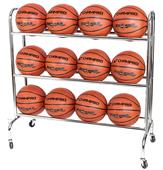 Champro Ball Rack w/Casters - Holds 12 Basketballs