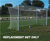 Soccer Nets White Braid 8' x 24' x 6' x 6' PAIR
