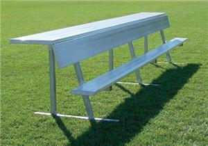 Aluminum Player Bench with Shelf