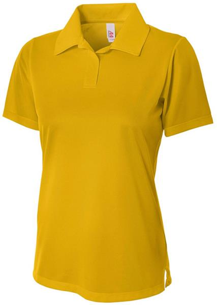 e03ca6cf08c A4 Women's Textured Polo Shirts w/Johnny Collar CO