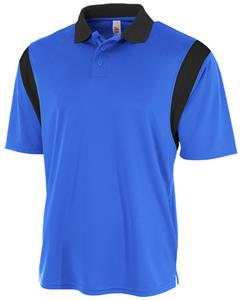 A4 Adult Color Blocked Polo Shirt with Knit Collar. Embroidery is available on this item.
