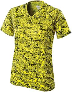 Womens XS  Semi-Fitted Cooling Camo V-Neck Shirts - CO