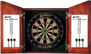 Accudart Union Jack Solid Wood Dartboard Cabinet Playground Equipment And Gear