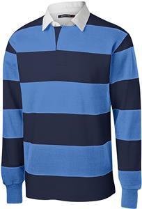 21cbd4dd001 Sport-Tek Adult Long Sleeve Rugby Polo - Cheerleading Equipment and Gear