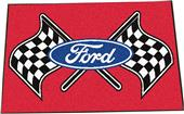 "Fan Mats Ford Flags Starter Mat Rug 19""x30"""