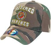 Rapid Dominance Retired Military Marines Camo Cap