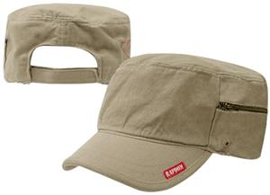 Adjustable Patrol Fatigue Caps W/Zipper. Embroidery is available on this item.