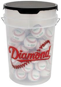 Diamond 6 Gallon Baseball Softball Clear Bucket