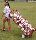 Soccer Innovations Big Red Madrid Soccer Ball Cart
