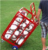 Soccer Wall Big Red Bayern Soccer Ball Cart