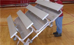 NRS 3 & 4  Row Tip N' Roll Low Rise Bleachers (72 HOUR FAST SHIP). Free shipping.  Some exclusions apply.