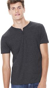 b6634e806c6a Bella+Canvas Men's Triblend Short Sleeve Henley - Cheerleading ...