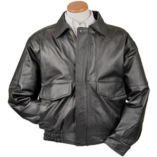 Burk's Bay Conceal Carry Leather Bomber Jacket