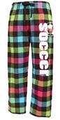 Image Sport Soccer Plaid Flannel Pants