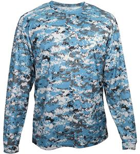 Badger Sport Adult/Youth Digital Camo L/S Tee. Printing is available for this item.