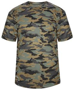 Badger Adult/Youth Short Sleeve Camo Tee Shirt. Printing is available for this item.