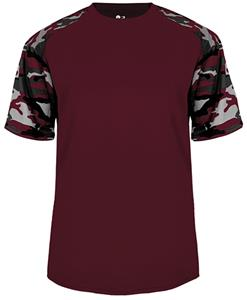 Badger Sport Camo Sport Performance Tee Shirt. Printing is available for this item.