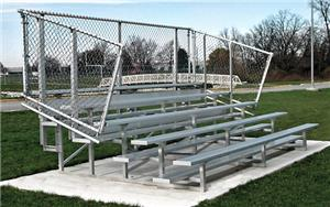 NRS 5 Row Non-Elevated Galvanized Bleachers. Free shipping.  Some exclusions apply.