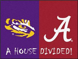 Fan Mats Lsu Alabama House Divided Mat Cheerleading
