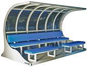 Upper 90 Premier Soccer Shelter w/ Padded Benches