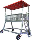 Upper 90 Portable Press Tower with Wheels