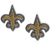 Silver Moon NFL New Orleans Saints Stud Earrings