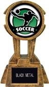 """Hasty Awards 10"""" Sky Tower Resin Soccer Trophy"""