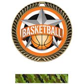 "Hasty Awards 2.5"" All-Star Crest Basketball Medals"