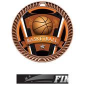 "Hasty Awards 2.5"" Varsity Crest Basketball Medals"