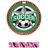 """Hasty 2.5"""" Crest  Medal Soccer All-Star Insert"""