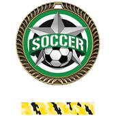 "Hasty 2.5"" Crest  Medal Soccer All-Star Insert"