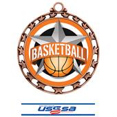 Hasty Award Basketball All-Star Insert Medal