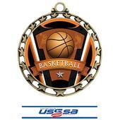 Hasty Award Basketball Varsity Insert Medal