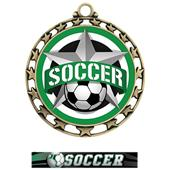 Hasty Super Star Medal Soccer All-Star Insert