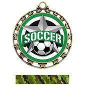 Hasty Super Star Medal Soccer All-Star Insert